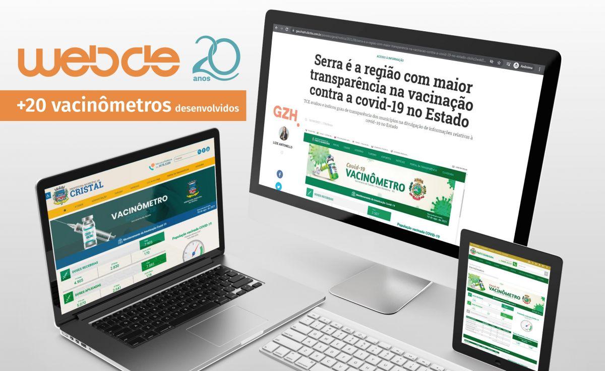 Foto Implantação de Vacinômetros pela WebDe gera à Serra maior transparência na vacinação contra a covid-19 no Estado