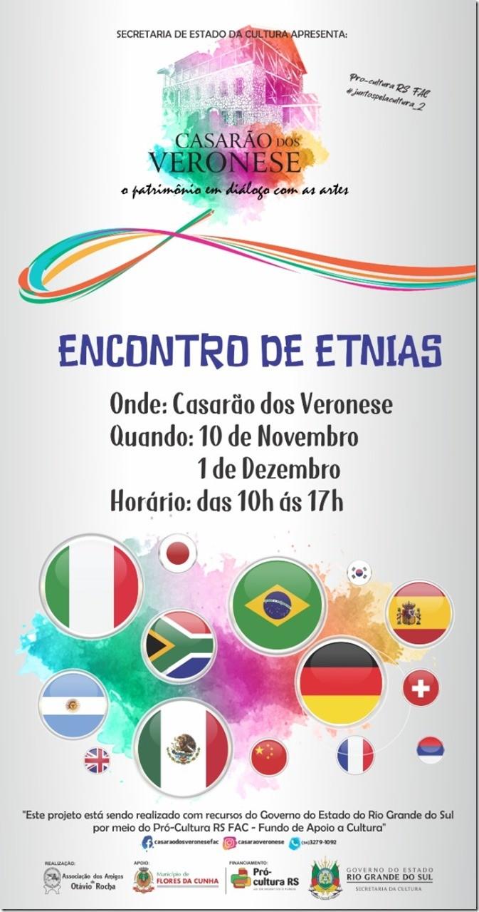 Foto de capa Encontro de Etnias ocorre neste domingo, dia 10, no Casarão dos Veronese