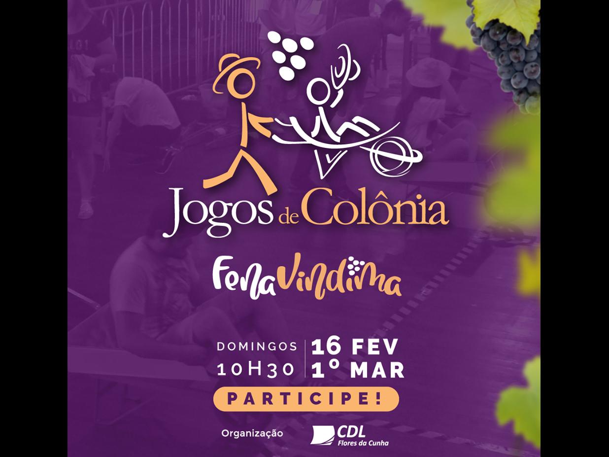 Foto Jogos de Colônia vão ser realizados durante a FenaVindima 2020