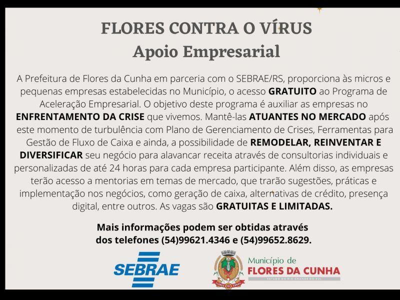 Foto Prefeitura e Sebrae disponibilizam gratuitamente às micro e pequenas empresas o Programa de Aceleração Empresarial