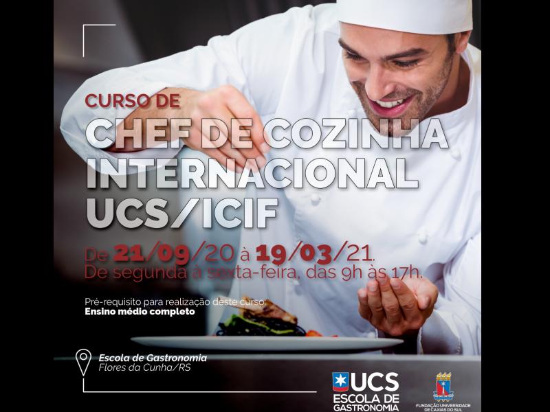 Foto A Escola de Gastronomia da UCS oferece curso de Chefe de Cozinha Internacional