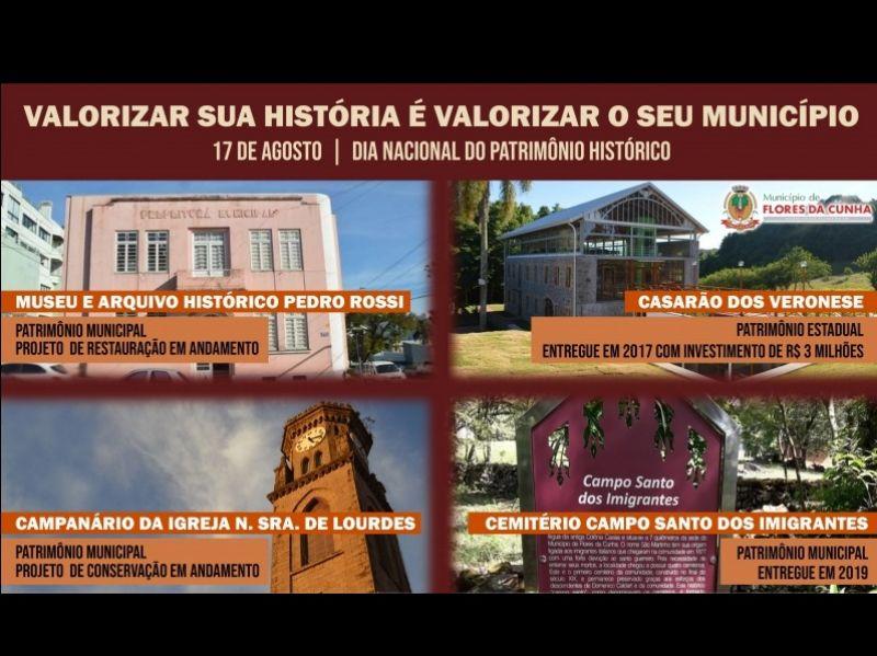 Foto Patrimônio Histórico: Flores da Cunha conta com quatro locais tombados
