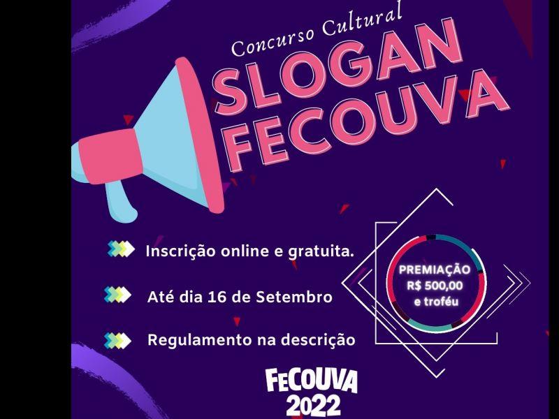 Foto Fecouva 2022 lança concurso para escolha do slogan do evento