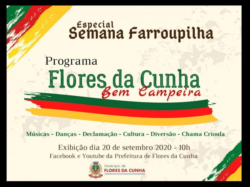 """Foto Especial """"Flores da Cunha Bem Campeira"""" será apresentado no domingo, dia 20, nas redes sociais do município"""