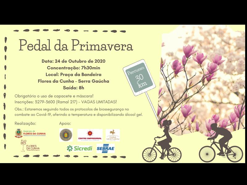 Foto Pedal da Primavera de Flores da Cunha ocorre no próximo dia 24