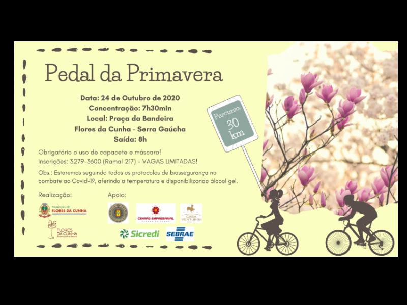 Foto Confira como participar do Pedal da Primavera de Flores da Cunha