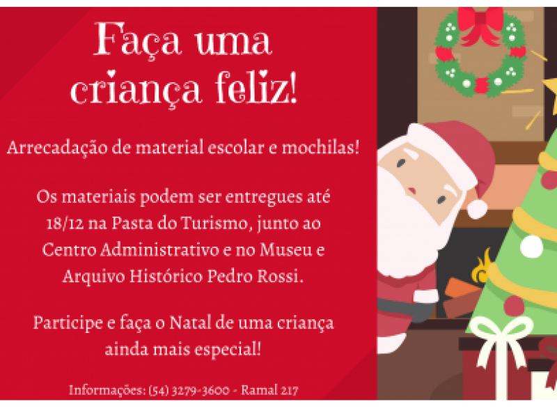 Foto Município de Flores da Cunha realiza arrecadação de material escolar para crianças de escolas municipais