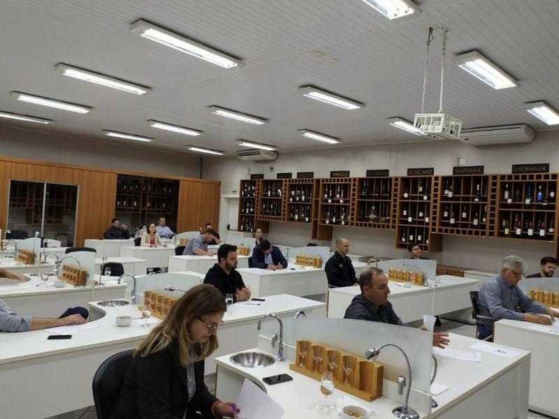 Foto Inicia o processo de degustação dos melhores vinhos de Flores da Cunha