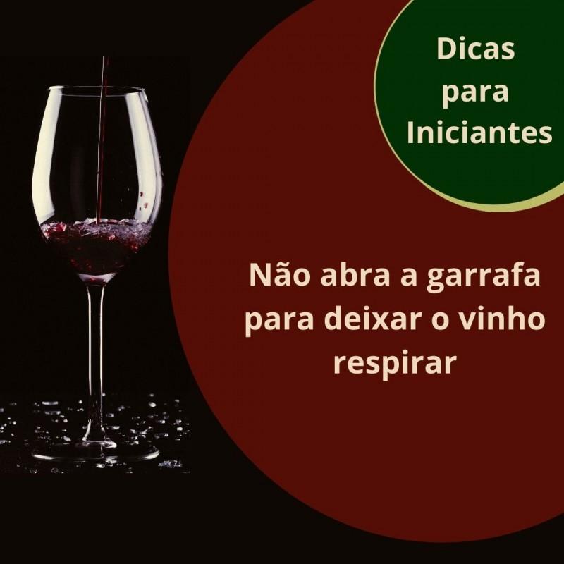 Foto de capa Não abra a garrafa para deixar o vinho respirar
