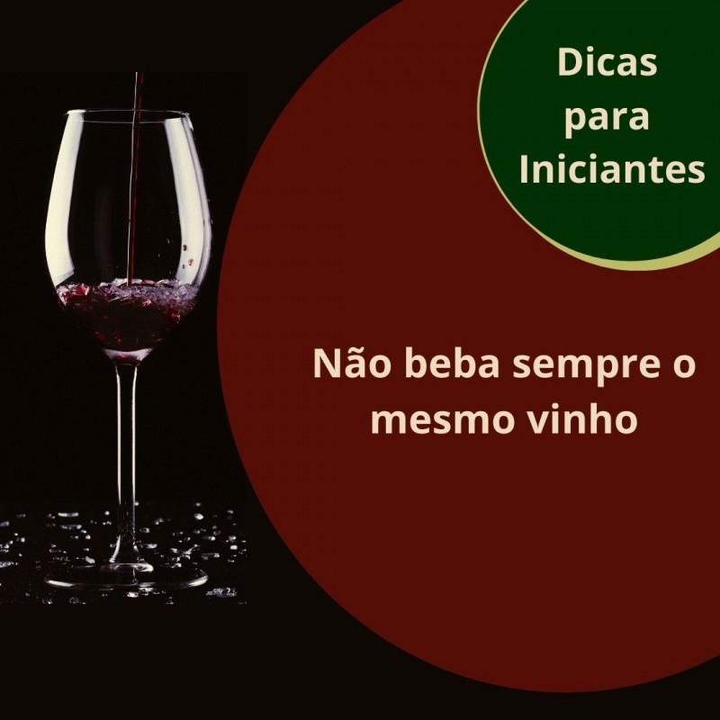 Foto de capa Não beba sempre o mesmo vinho