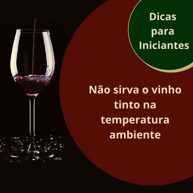 Foto de capa Não sirva o vinho tinto na temperatura ambiente
