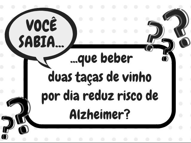 Foto Você sabia que beber duas taças de vinho por dia reduz risco de Alzheimer?