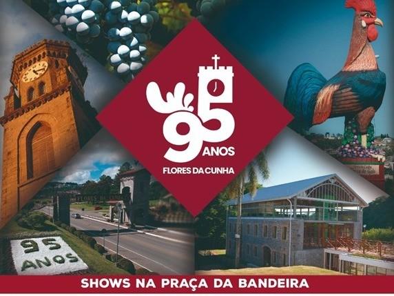 Foto Cris Lodea e Maicon e Pontel fazem show na Praça da Bandeira para comemorar o aniversário de Flores da Cunha