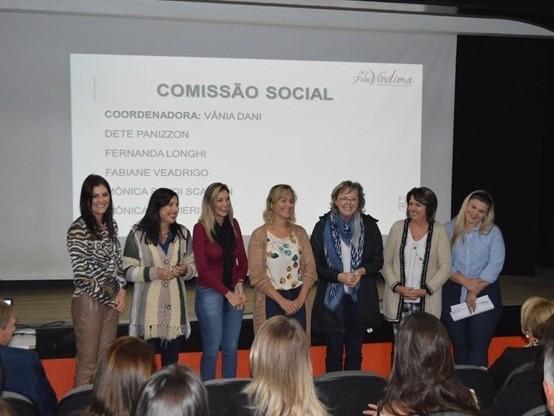 Foto Apresentada diretoria e comissão social da 14º FenaVindima