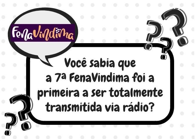 Foto de capa Você sabia que a 7ª FenaVindima foi a primeira a ser totalmente transmitida via rádio?