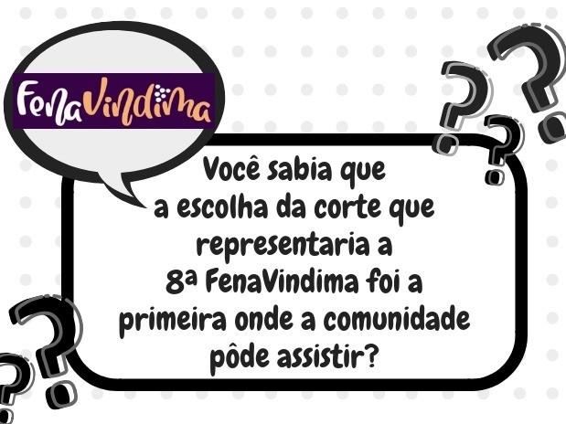 Foto Você sabia que a escolha da corte que representaria a 8ª FenaVindima foi a primeira onde a comunidade pôde assistir?