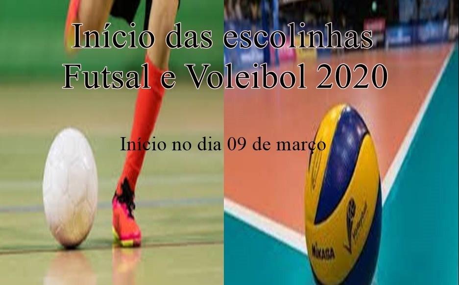 Foto de capa da notícia Escolinha de Futsal e Voleibol