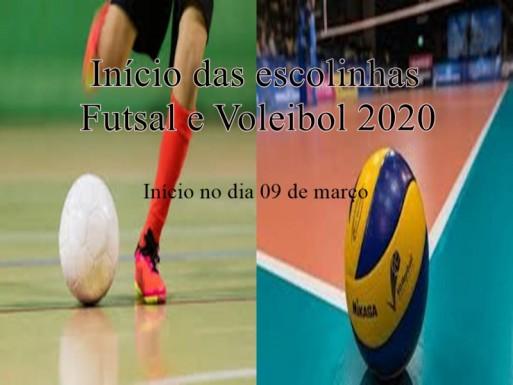 Foto de capa da notícia: Escolinha de Futsal e Voleibol
