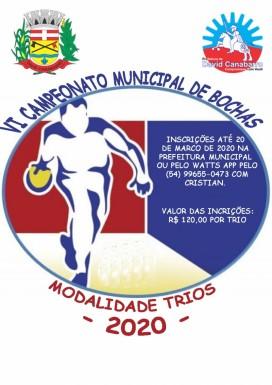 Foto de capa da notícia: Vem aí o VI Campeonato Municípal de Bocha