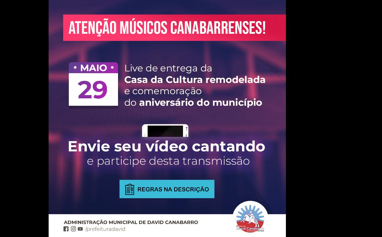 Foto de capa da notícia: Convite aos músicos Canabarrenses