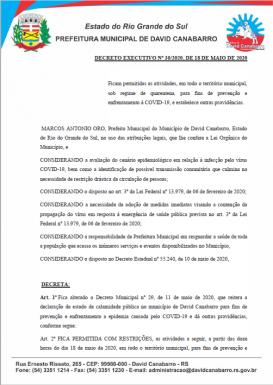 Foto de capa da notícia: Novo Decreto