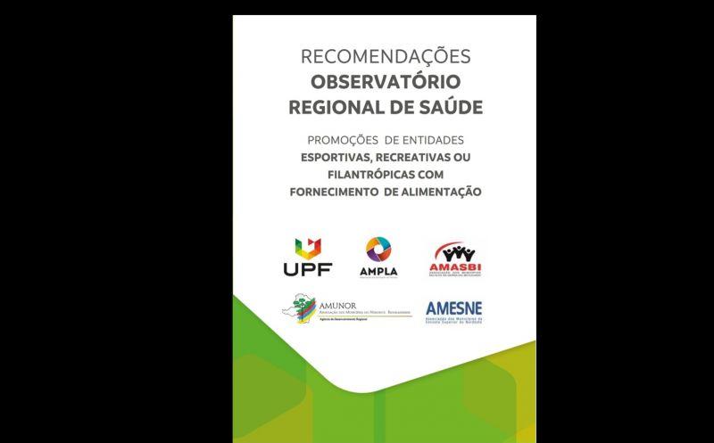 Foto de capa da notícia: Recomendações Observatório Regional de Saúde