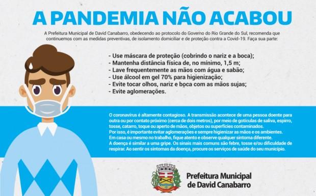Foto de capa da notícia: A Pandemia Não Acabou