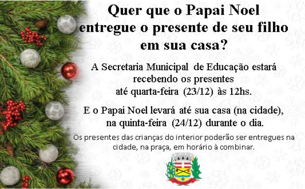 Foto de capa da notícia: Quer que o Papai Noel entregue o presente do seu filho em sua casa?