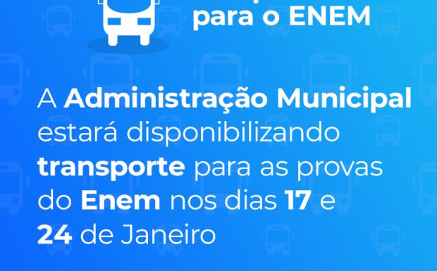 Foto de capa da notícia: Transporte Para ENEM