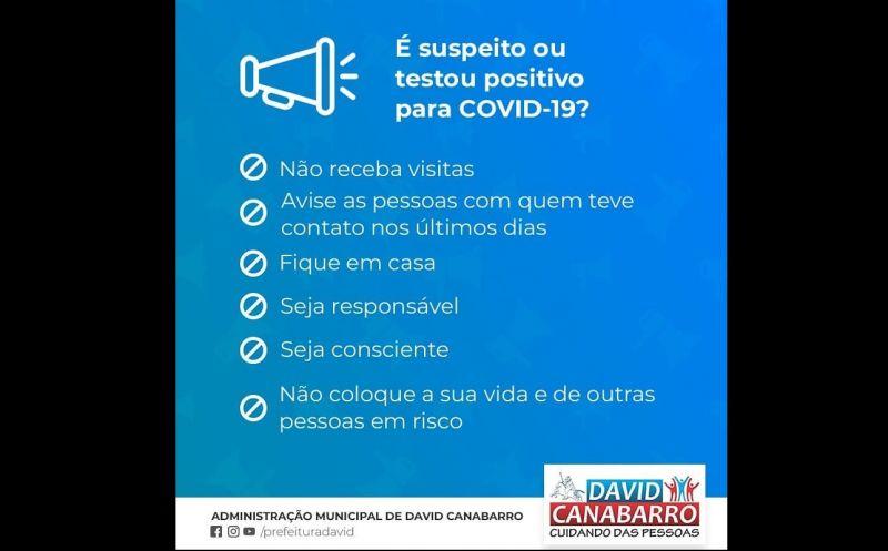 Foto de capa da notícia É suspeito ou testou positivo para Covid-19?
