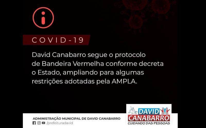 Foto de capa da notícia: Município de David Canabarro segue o decreto Estadual