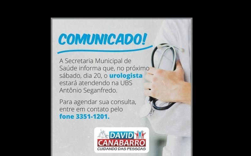 Foto de capa da notícia Atenção! Consulta com médico Urologista.