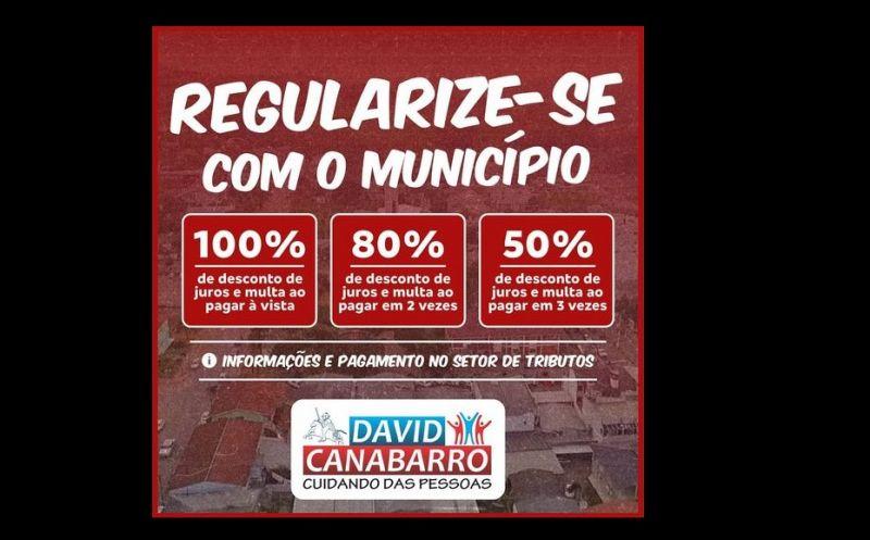 Foto de capa da notícia: CIDADÃO TEM ATÉ 100% DE DESCONTO DE JUROS E MULTA DE DÍVIDAS COM O MUNICÍPIO