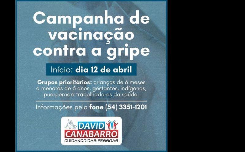 Foto de capa da notícia: VACINAÇÃO CONTRA A GRIPE INICIA NA SEGUNDA-FEIRA