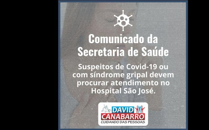 Foto de capa da notícia: COMUNICADO DA SECRETARIA DE SAÚDE!