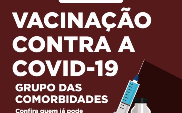 Foto de capa da notícia: NOVOS GRUPOS DE PESSOAS COM COMORBIDADES PODEM SE VACINAR CONTRA A COVID-19