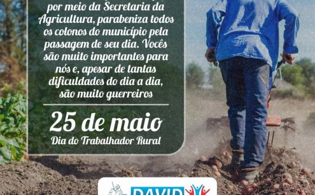 Foto de capa da notícia: 25 DE MAIO | DIA DO TRABALHADOR RURAL