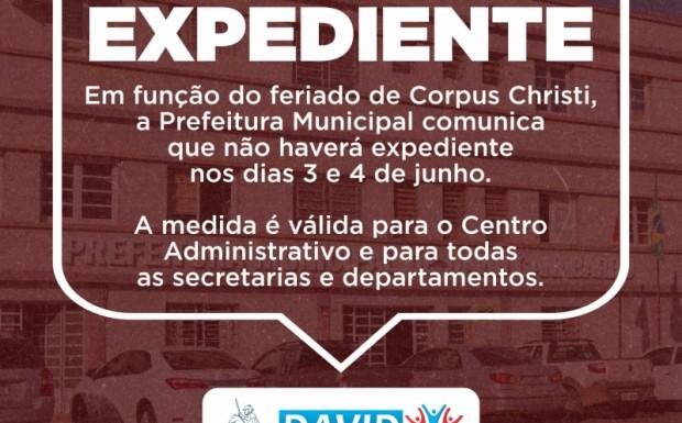 Foto de capa da notícia: COMUNICADO EXPEDIENTE