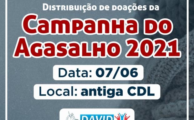 Foto de capa da notícia: DISTRIBUIÇÃO DA CAMPANHA DO AGASALHO ACONTECE NA SEGUNDA-FEIRA