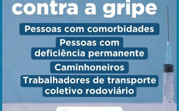 Foto de capa da notícia: TERCEIRA FASE DE VACINAÇÃO CONTRA GRIPE TEM INÍCIO NESTA QUARTA-FEIRA