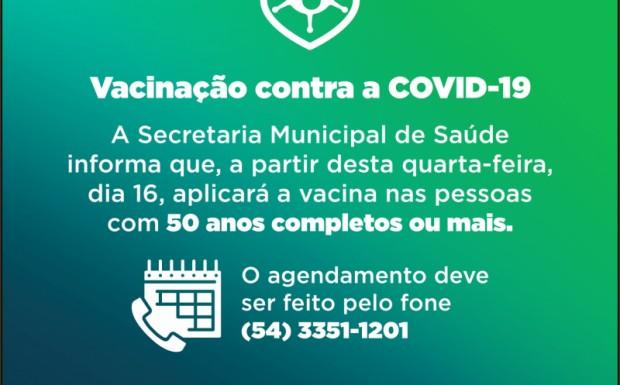 Foto de capa da notícia: VACINAÇÃO DE CANABARRENSES SEM COMORBIDADES COM 50 ANOS OU MAIS!