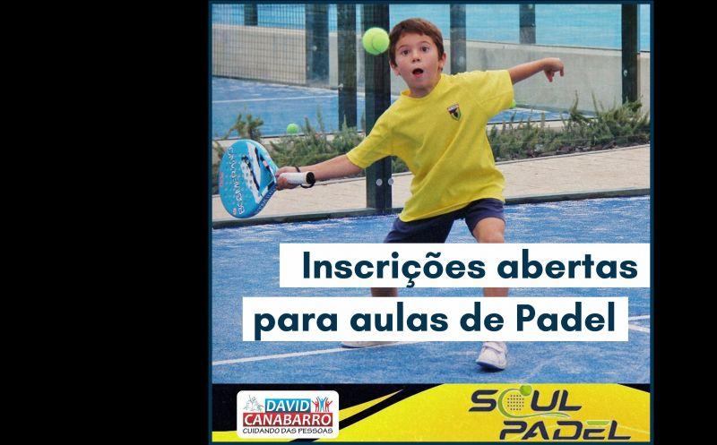 Foto de capa da notícia AULAS DE PADEL ESTÃO SENDO OFERECIDAS NO MUNICÍPIO