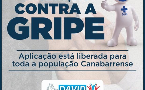 Foto de capa da notícia: VACINA CONTRA A GRIPE ESTÁ DISPONÍVEL PARA TODA A POPULAÇÃO CANABARRENSE