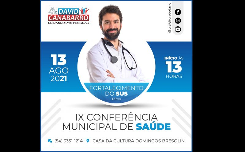 Foto de capa da notícia CONFERÊNCIA MUNICIPAL DE SAÚDE ACONTECERÁ NO DIA 13 DE AGOSTO
