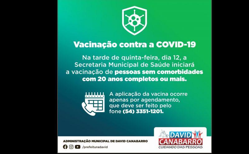 Foto de capa da notícia JOVENS SEM COMORBIDADES COM 20 ANOS COMPLETOS OU MAIS JÁ PODEM AGENDAR VACINAÇÃO CONTRA A COVID-19