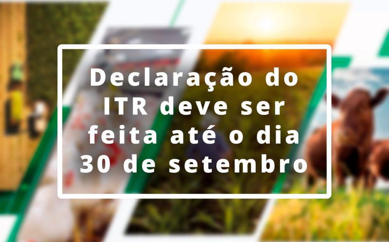 Foto de capa da notícia ATENÇÃO, CANABARRENSES! ABERTO PRAZO PARA DECLARAÇÃO DO ITR