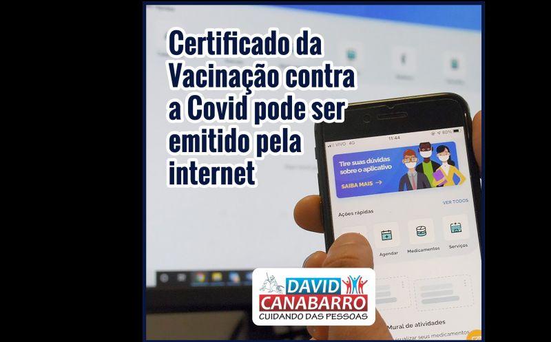 Foto de capa da notícia CERTIFICADO NACIONAL DE VACINAÇÃO CONTRA A COVID-19 JÁ PODE SER EMITIDO PELA INTERNET