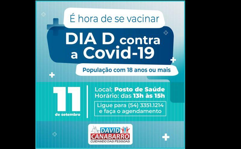 Foto de capa da notícia DIA D CONTRA A COVID-19 SERÁ NO PRÓXIMO SÁBADO