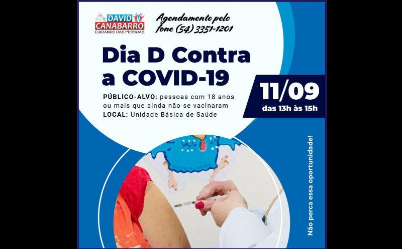Foto de capa da notícia AMANHÃ É O DIA D CONTRA A COVID-19