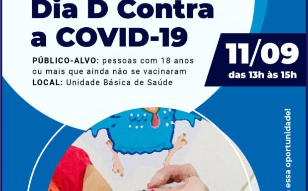 Foto de capa da notícia: AMANHÃ É O DIA D CONTRA A COVID-19